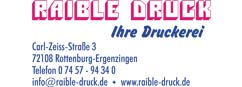 Sponsoren - Logo Druckerei Raible